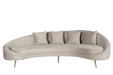 osf11300gry-cleo curved sofa in light gray ... FXZTRHA