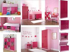 Ottawa Caspian Pink Gloss Girls Bedroom Furniture - Wardrobe Drawers Beds GJCJTHR