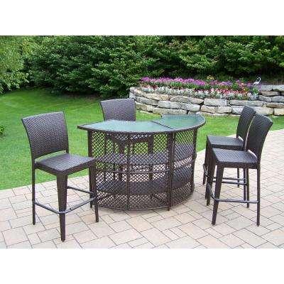 Outdoor bar furniture Elite 5-piece basket outdoor serving set PPEASZG