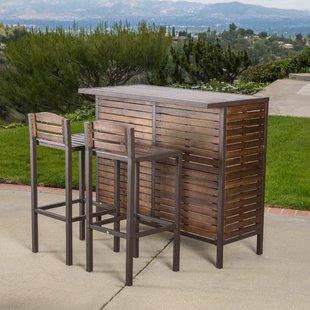 Lively outdoor bar furniture 3-piece bar set USCMWTB