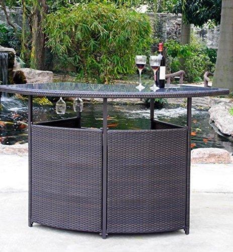 Outdoor bar furniture Premium outdoor wicker bar with storage DYIKUPH