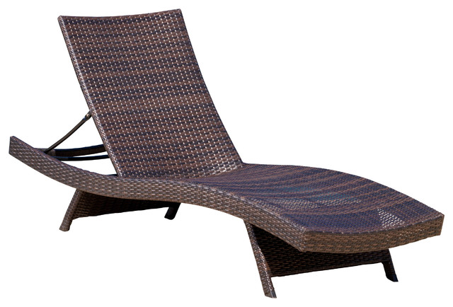 Outdoor chaise longue Lakeport Outdoor adjustable chaise longue KIVJODP