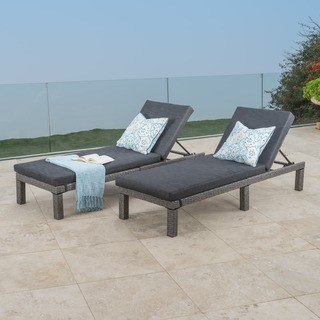 Outdoor chaise longue Puerta Outdoor adjustable Pe Wicker chaise longue with cushions by Christopher WZLUPTB