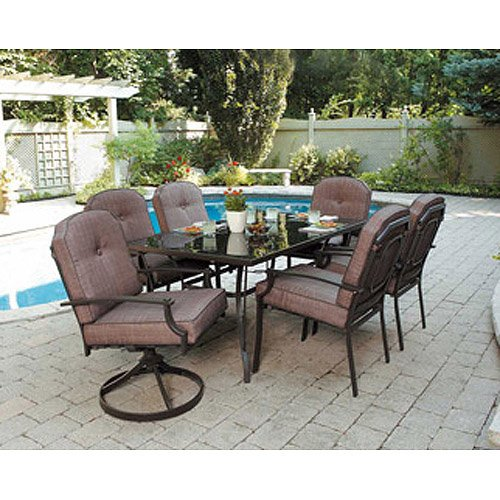 Outdoor dining sets amazon.com: 7-piece terrace dining set for 6 people.  Enjoy nature with EGBVRQU