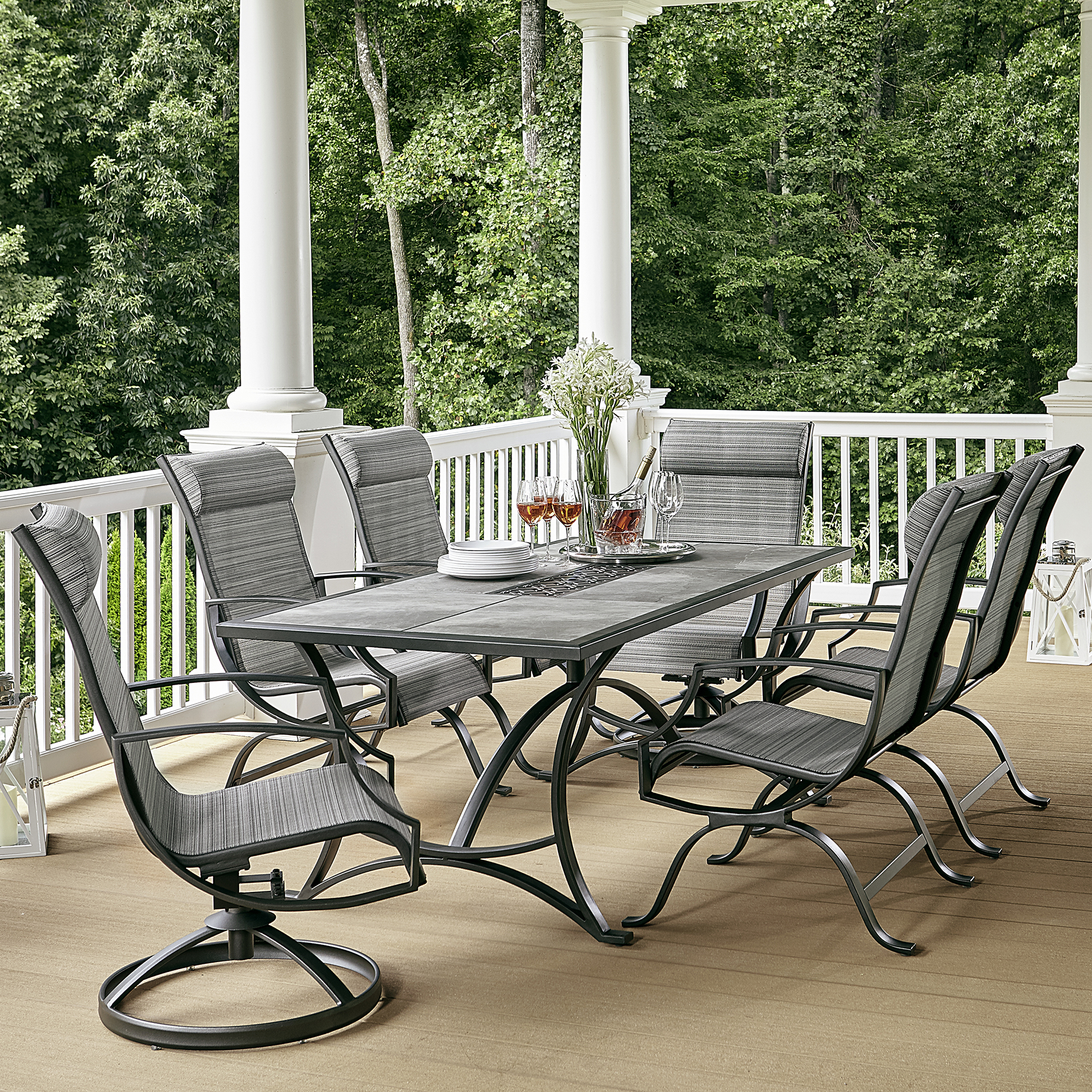 Outdoor dining sets Ceramic top dining set * limited availability NIFQKDC