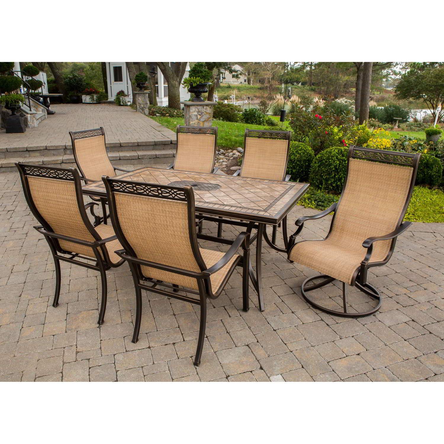 Outdoor dining sets monaco 7-piece dining set - monaco7pcsw WARWENH