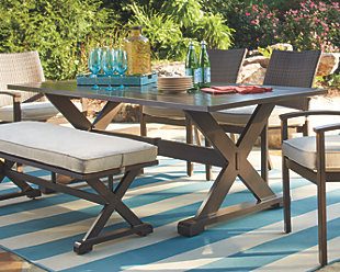 Outdoor dining set ... moresdale 8-piece rectangular outdoor dining set,, large ... YNZCFEW