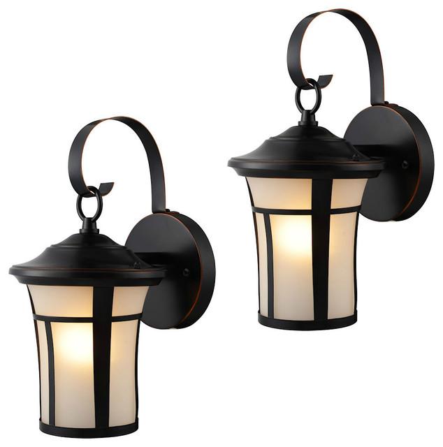 Outdoor lights, set of 2, bronze oiled ETAPSAM