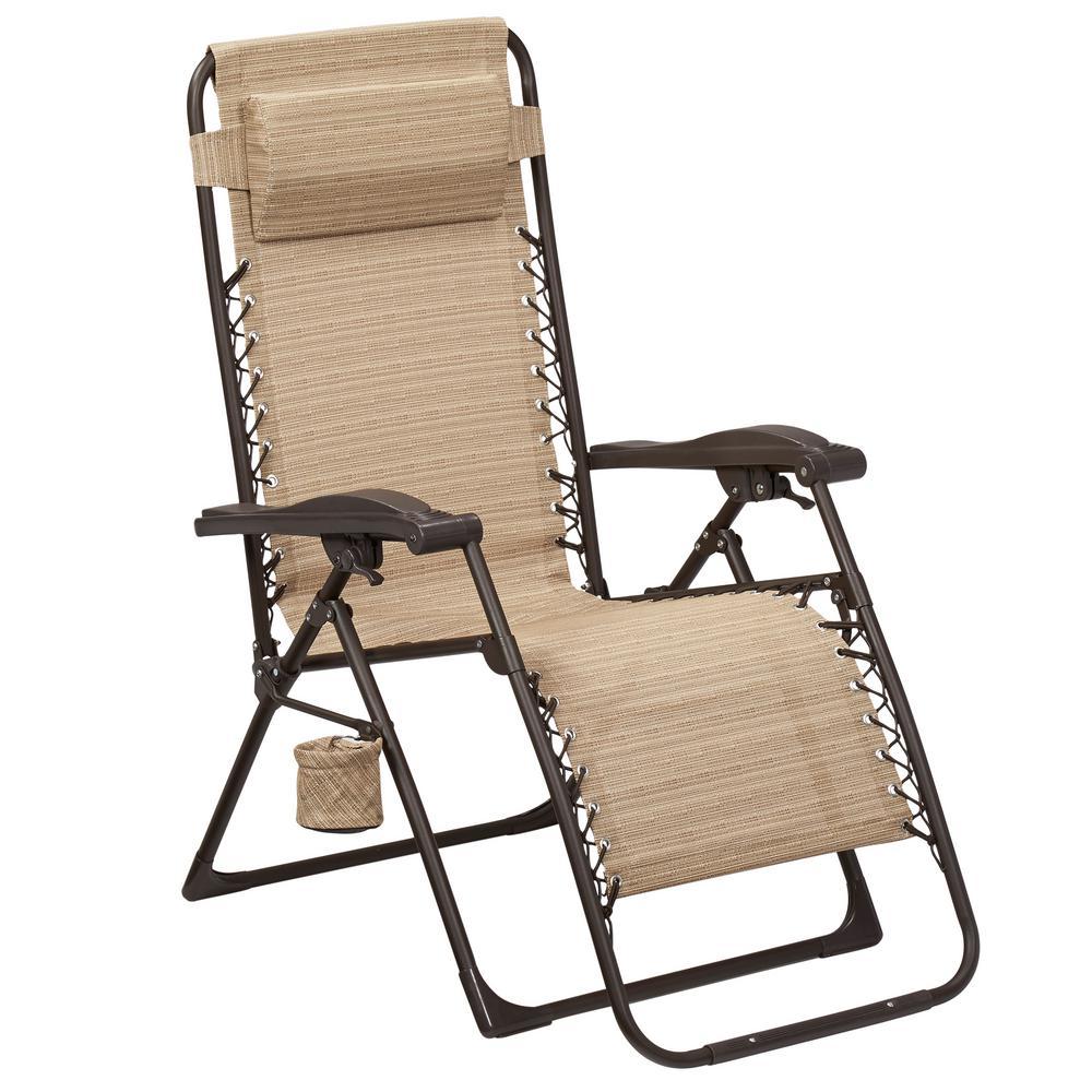 Hampton Bay Mix and Match Zero Gravity Sling outdoor lounge chair AESYUMW outdoor lounge chair