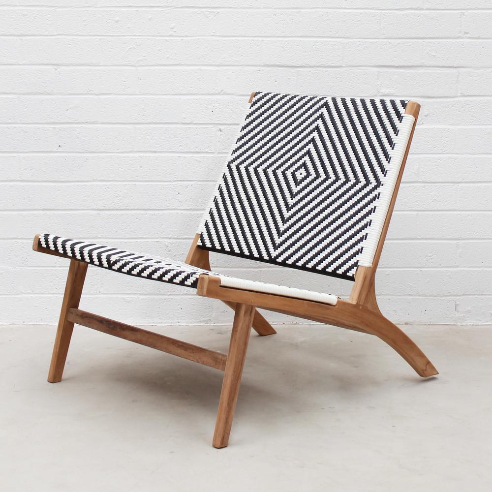 Outdoor lounge chair Zahara Teak Outdoor lounge chair JFWEKGI