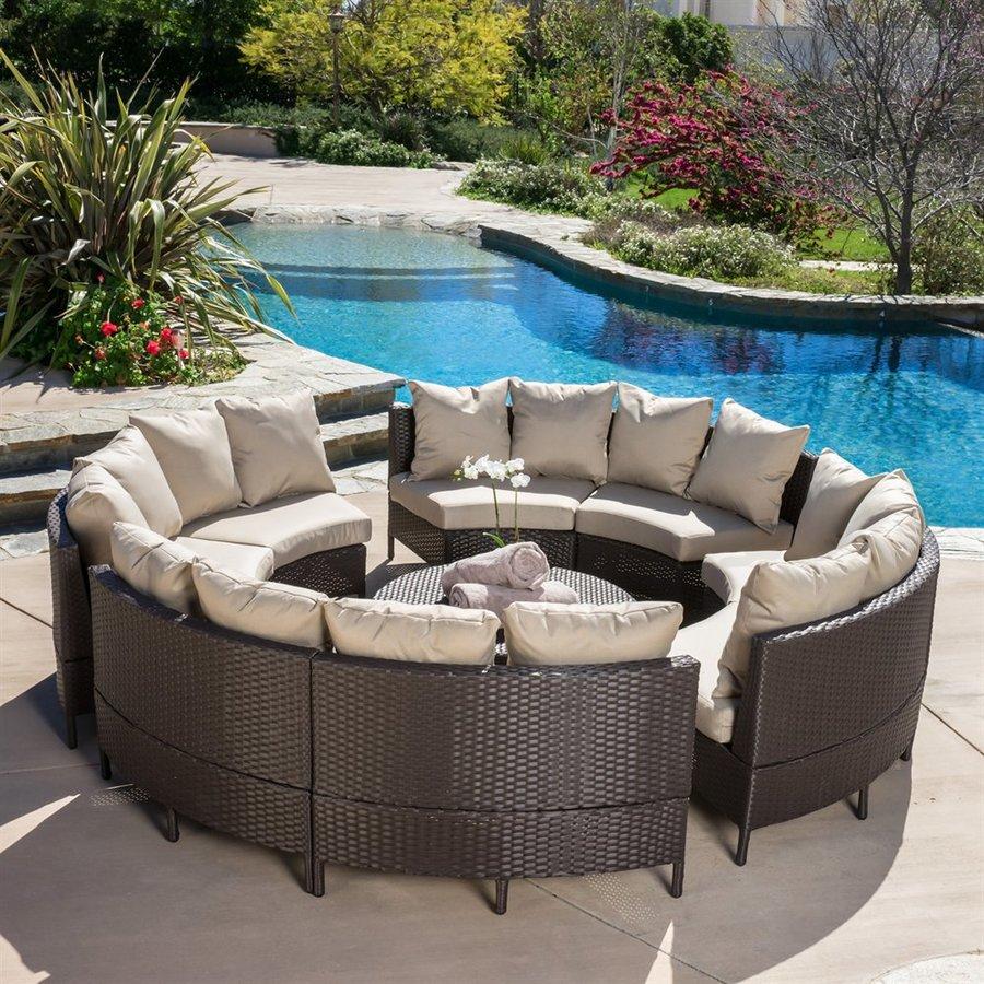 Garden furniture sets for garden furniture made of wicker IUTDUKF