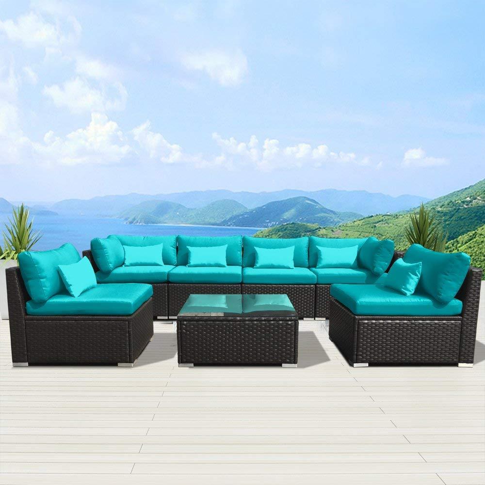 Garden furniture amazon.com: modenzi 7g-u garden furniture garden furniture espresso brown wicker sofa VSMGHMP