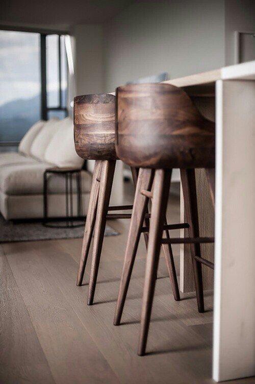 Outdoor wooden bar stool JKRGJMJ