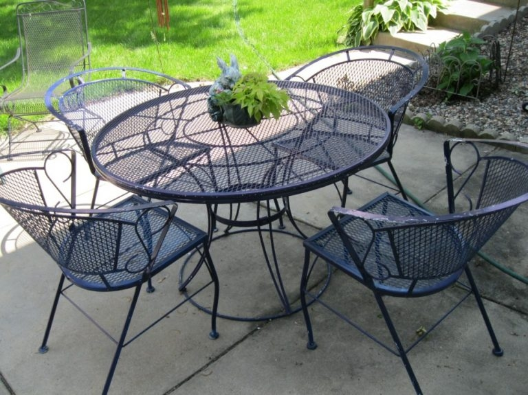 Wrought iron garden furniture for outdoors Vintage Sanddeluca Design wrought iron veranda XZNLQHB