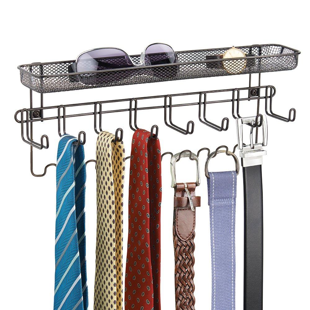 over the door tie holder belt hanger organizer 19 storage hooks RGAQVBQ
