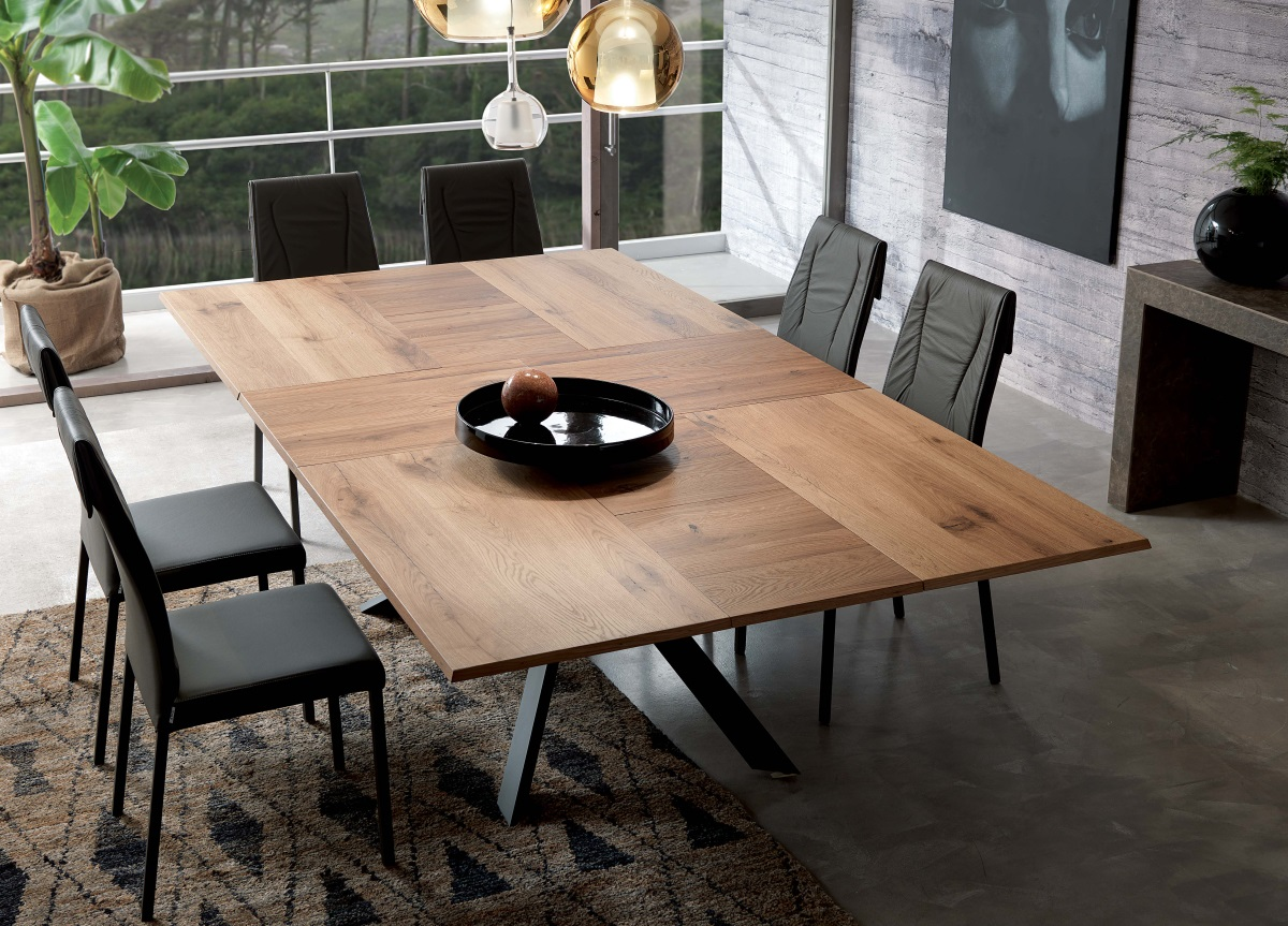 ozzio 4x4 extendable dining table WFPHCYU