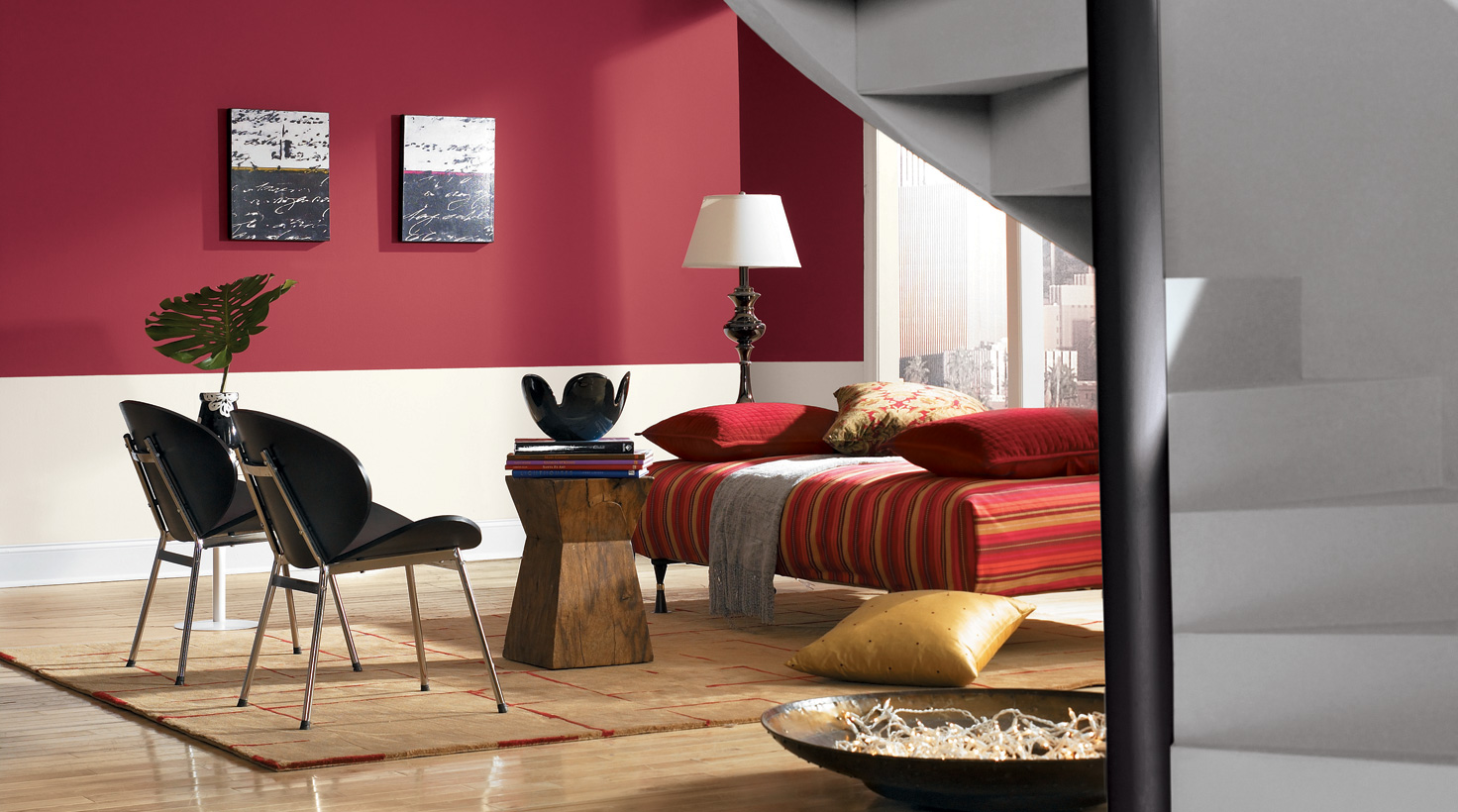 Painting ideas for living room ... living room - red tones ... DHUSKKL