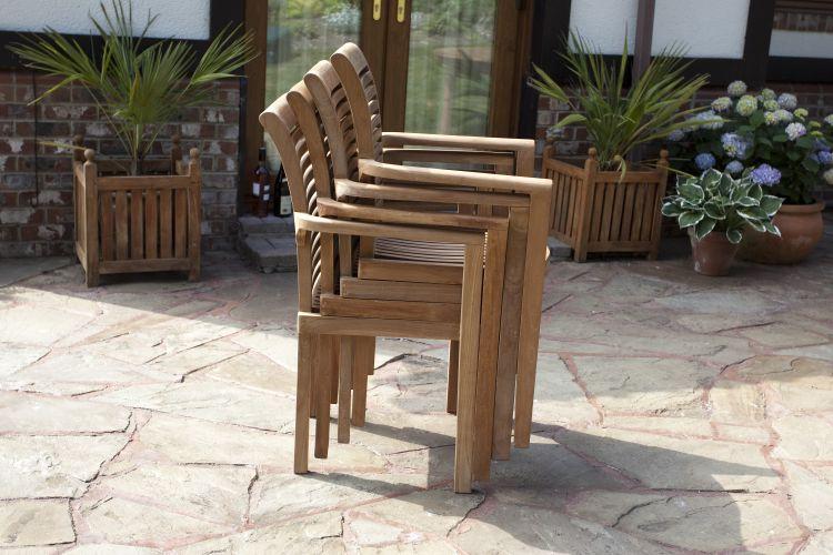 Paris 6-seater teak garden furniture set SERFXOU
