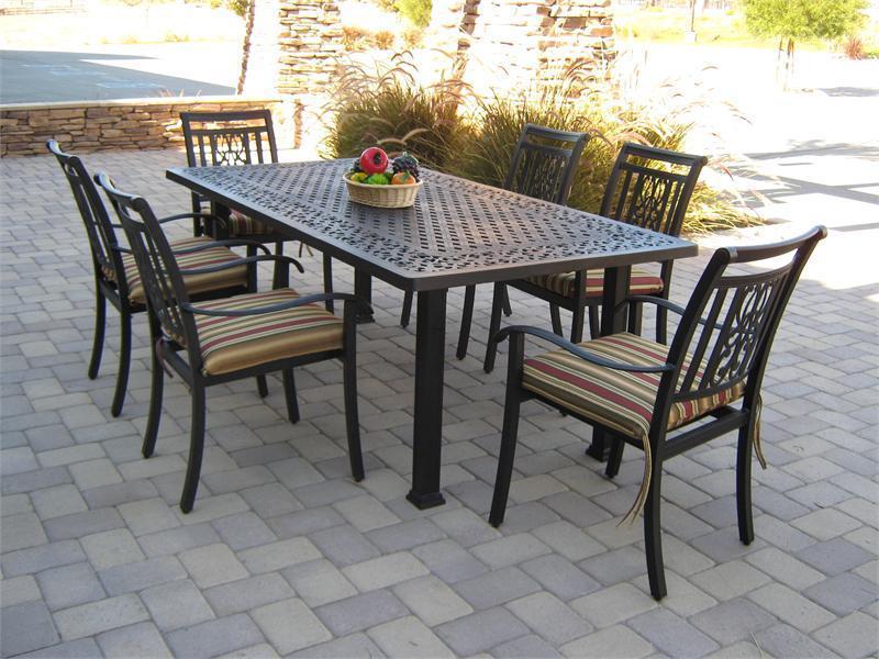 Patio dining tables rectangular metal patio dining table RZROIXA