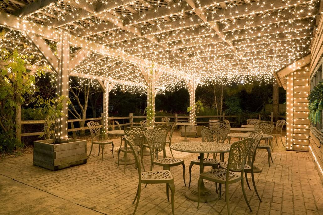 Patio lighting ... Brite Nites Pergola LED Landscape Lighting Commercial Christmas Lights EFQEWKZ