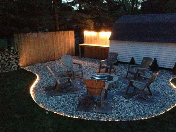 Patio lighting Floor lighting around your fire pit would be just amazing.  QGRBWCA