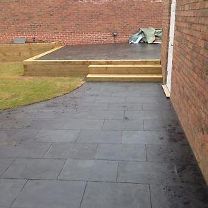 terrace slabs image is loading black-slate-paving-terrace slabs-garden-30m2-600x400mm- LSVRDDK