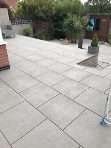 terrace tiles image is loading dakota-gray-glazed-porcelain-paving-garden-terrace tiles- USZSQVD