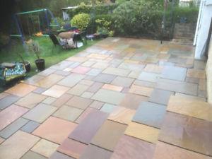 Terrace slabs Image is loaded Raj-Blend-Indian-Natural-Sandstone-Pavement-Garden-Patio- WLWKCRR