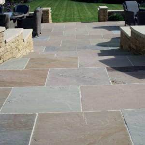 Terrace slabs natural paving-split sandstone u0027classicstone u0026 finestoneu0027-raj lake plate paving slabs YDTQLWK