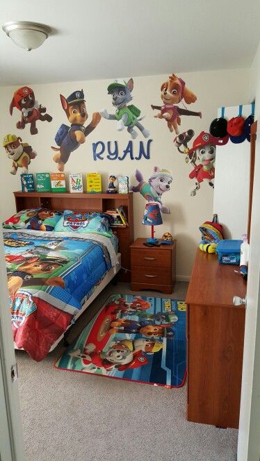 Ryan's Paw Patrol Room    Paw patrol room, toddler room.