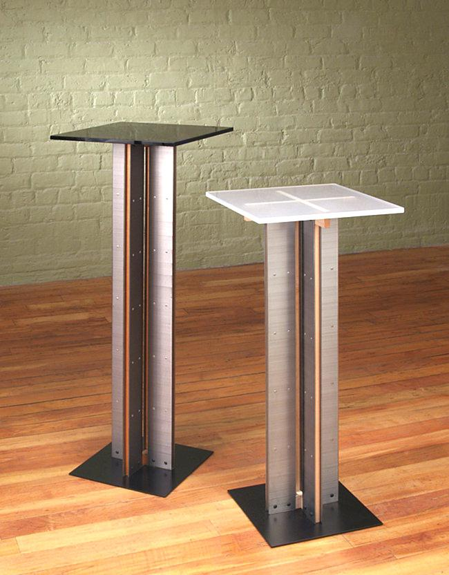 Pedestal for table view in the gallery modern pedestal tables by Designs Sockel ANKLTEN