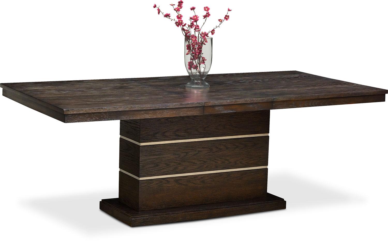 Pedestal Tables Dining Room Furniture - Gavin Pedestal Table - Brownstone ZDCMAXN