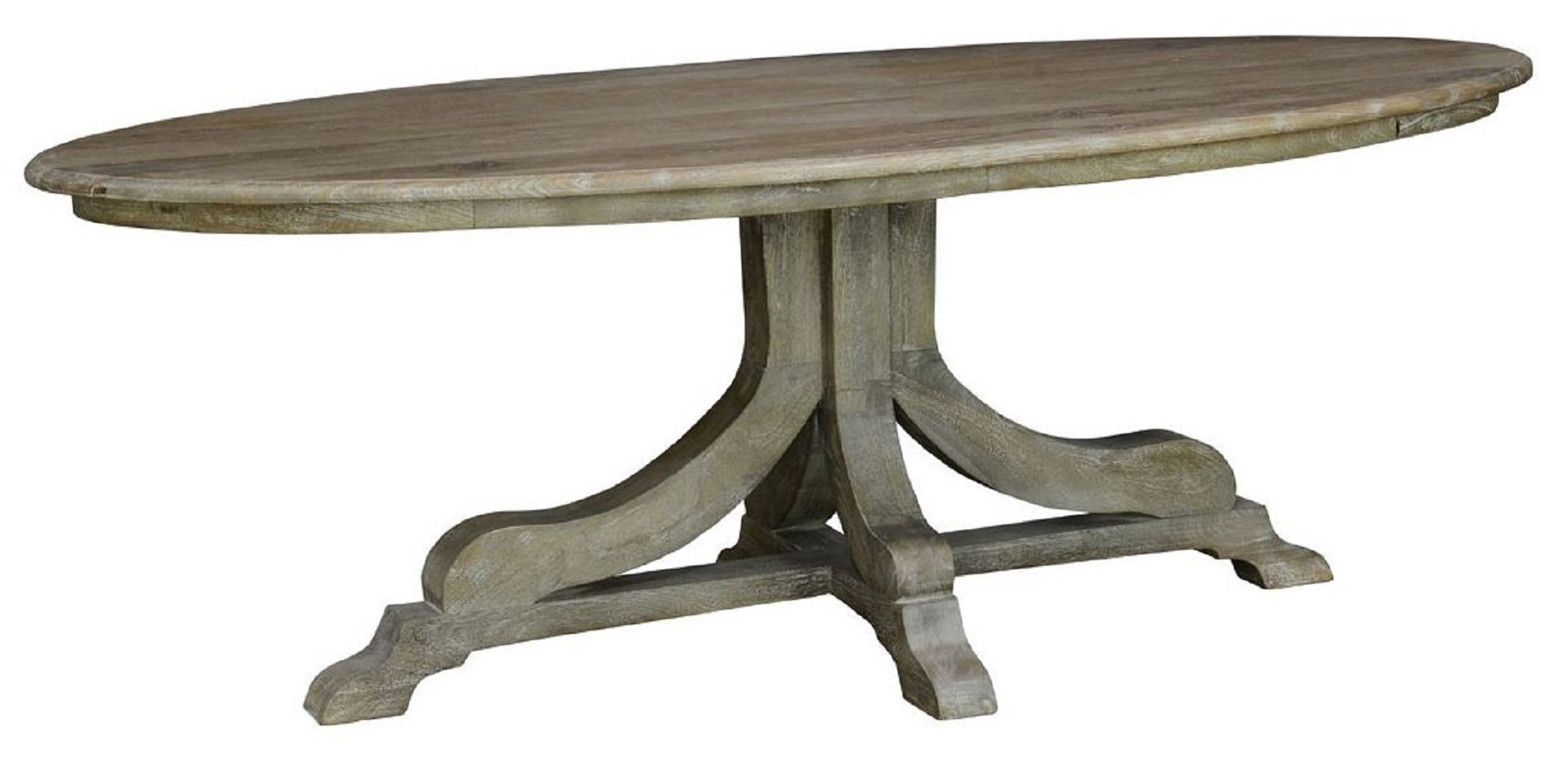 Pedestal tables oval pedestal dining table - modern industrial transition dining tables NSUGQVY