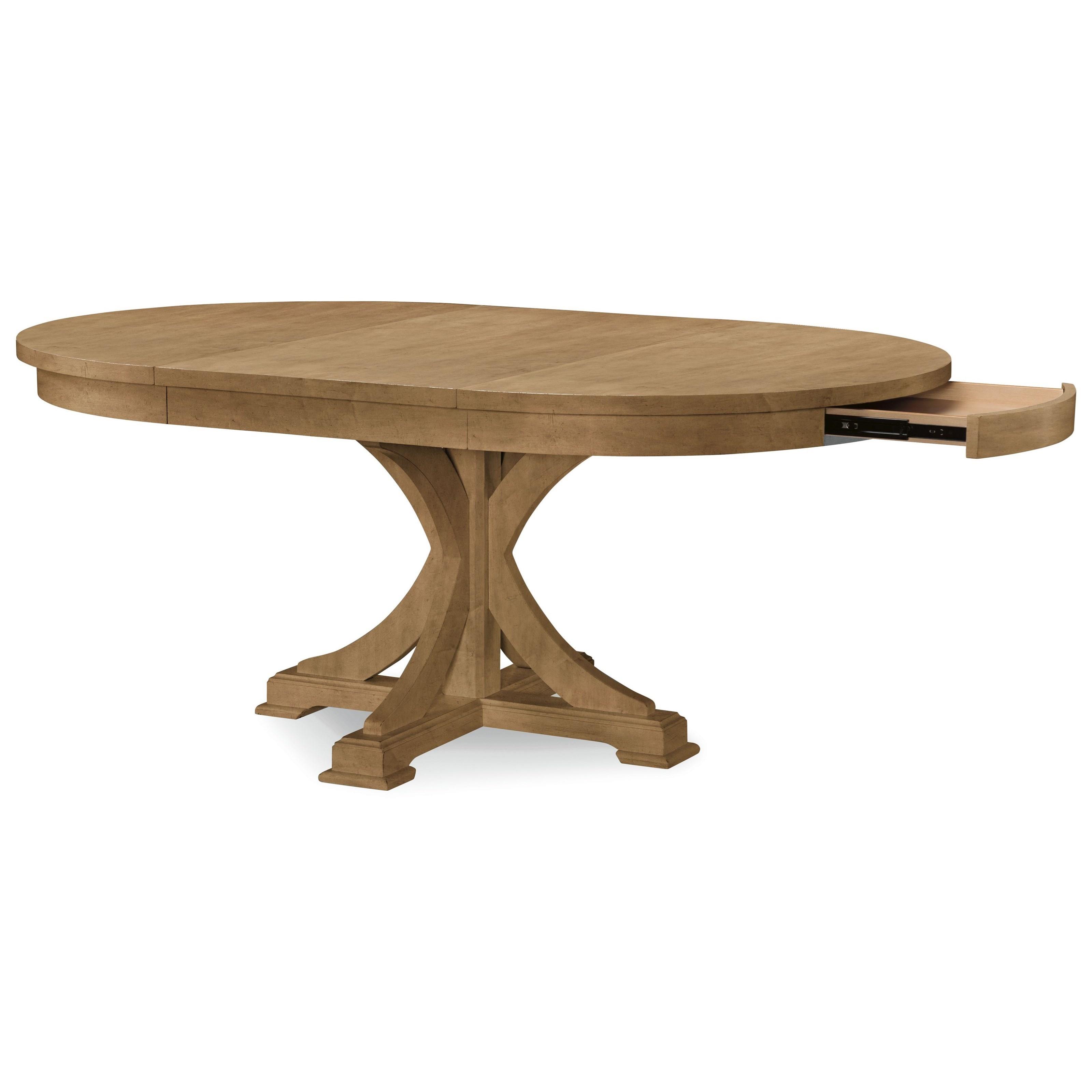 Pedestal tables Rachael Ray Home by Legacy classic everyday table from round to oval base LHLPCYH