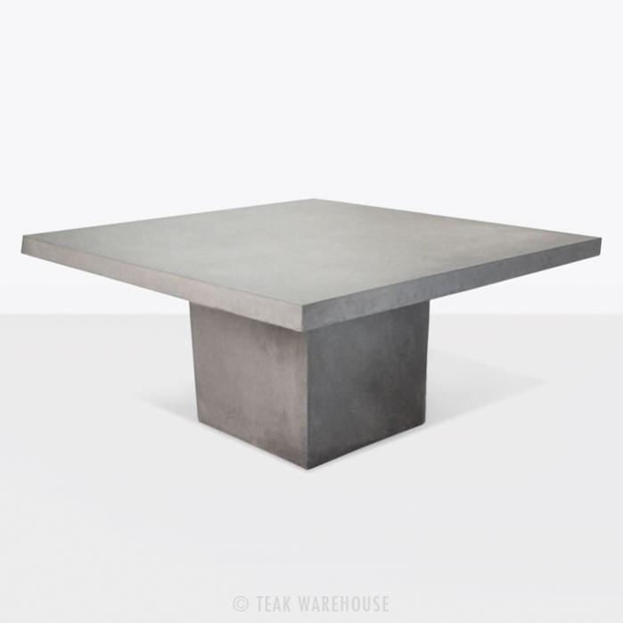 Pedestal tables raw concrete square pedestal table 63 XEWYSKN