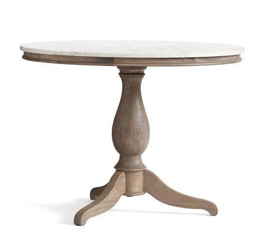 Pedestal tables scroll to the next item USHFVHX