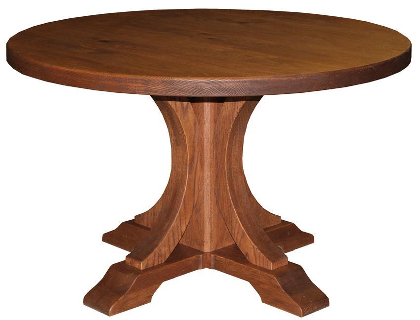 pillar tables sienna solid top pillar dining table by keystone GSNUZXC