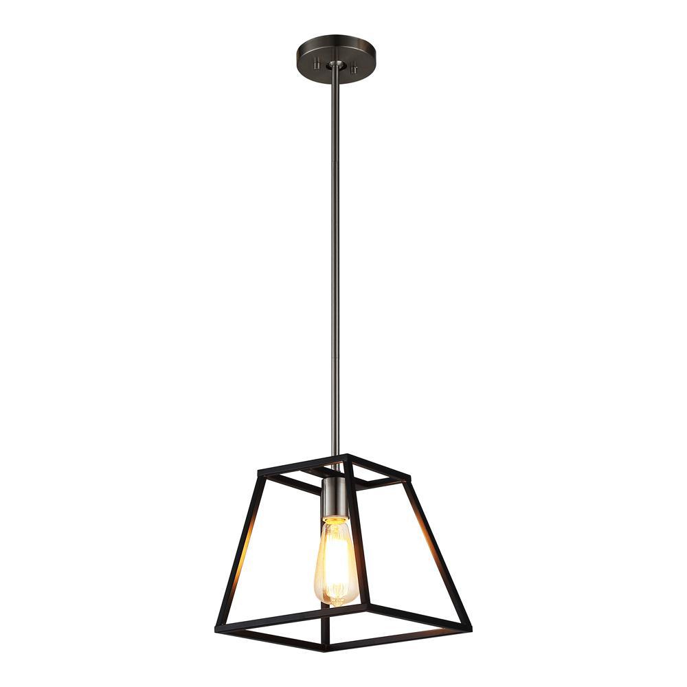pendant light ove decors agnes ii 5-lamp black pendant agnes ii - the home depot YTYWNAA