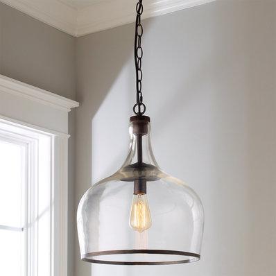 Pendant lamp reproduction glass cloche pendant lamp YWHDRLA