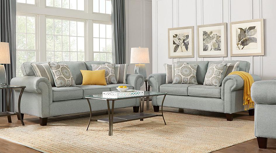 pennington blue 7 piece living room - living room sets (blue) VTALMSM