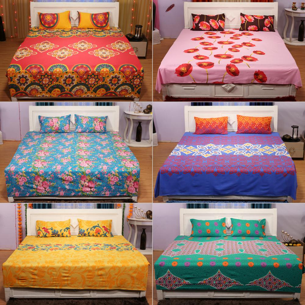 Choose two bedsheets made of 100% cotton from bella casa    Bed linen NCECXEO