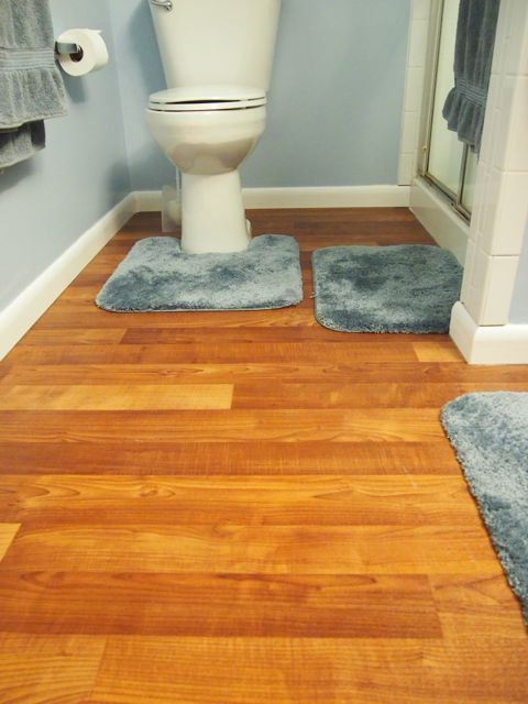 Image of the exchange project for linoleum floors in the bathroom TOIMOXS