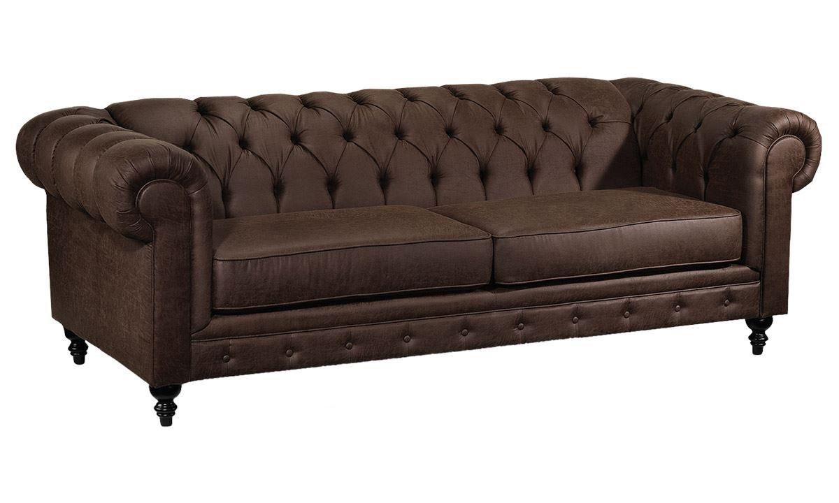 Picture of Legacy Leather Chesterfield sofa in 100% grained leather CWJVHSF