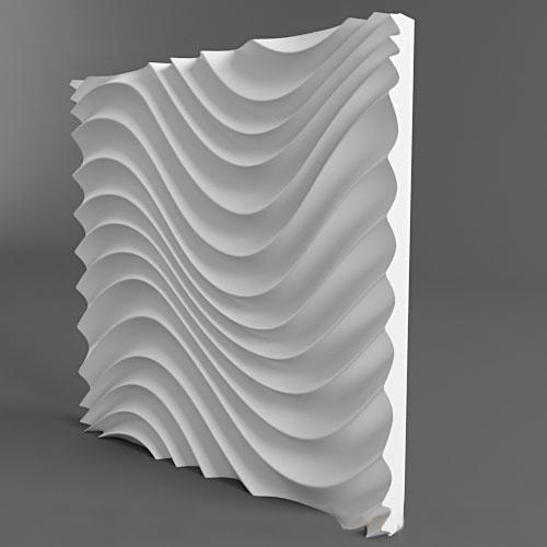 Plastic molds form decorative 3D wall panels BDOKOWW