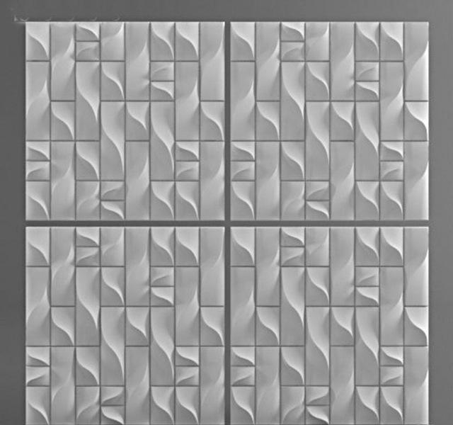 Plastic molds form decorative 3D wall panels XKBPWTE
