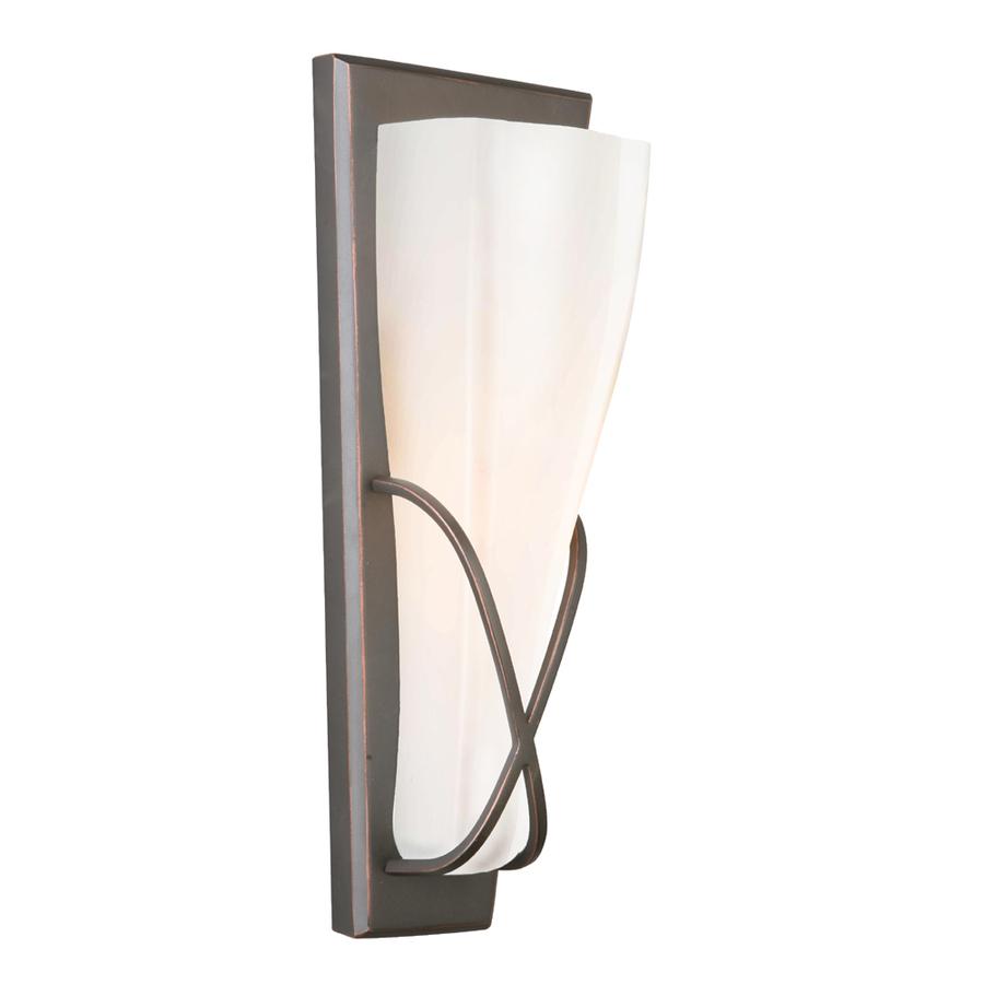 Portfolio 5.13-in w 1-bright oiled bronze pocket wall light XPODUSY