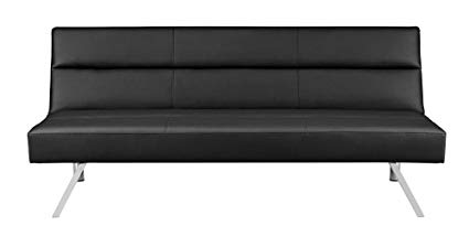 Premium sofa futon couch, modern design with rich synthetic leather, robust stainless steel BBNQLCV