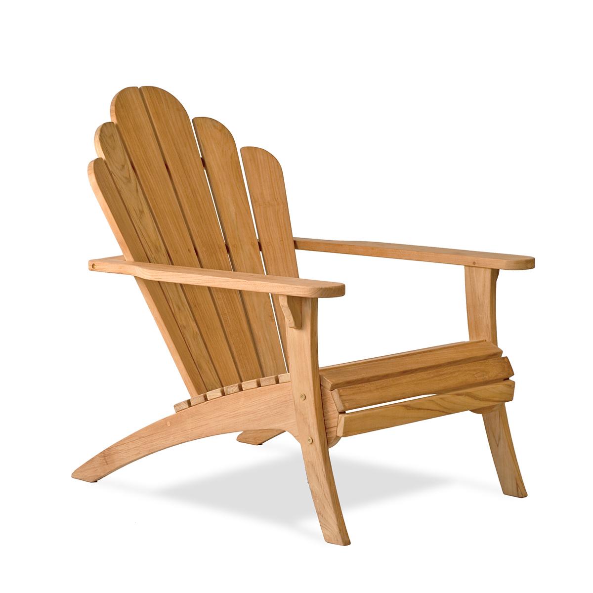 Adirondack chair made of high quality teak    classic design    Bainbridge Collection IXSBNXR