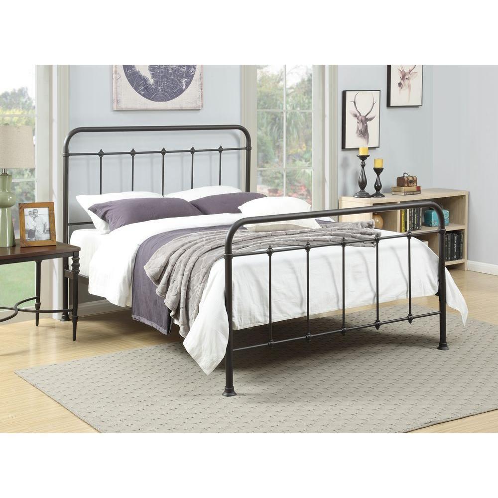 pri all-in-1 brown queen-size bed AKNZZEN