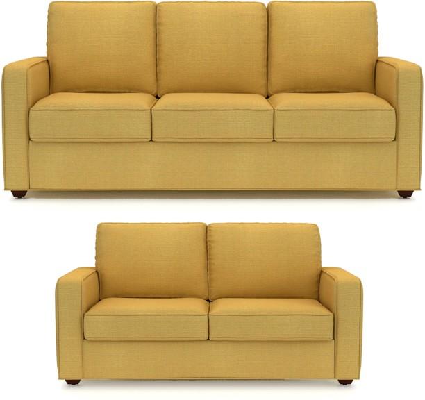 Primrose Eclipse fabric 3 + 2 beige sofa set WUSKARZ